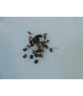 20 Tuercas para pendientes bronce de 3x4mm