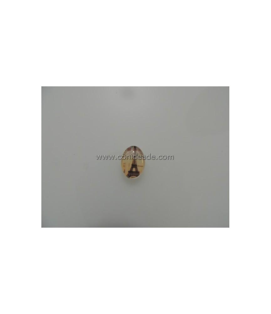 Cabuchon cristal sello torre eiffel 18x13mm