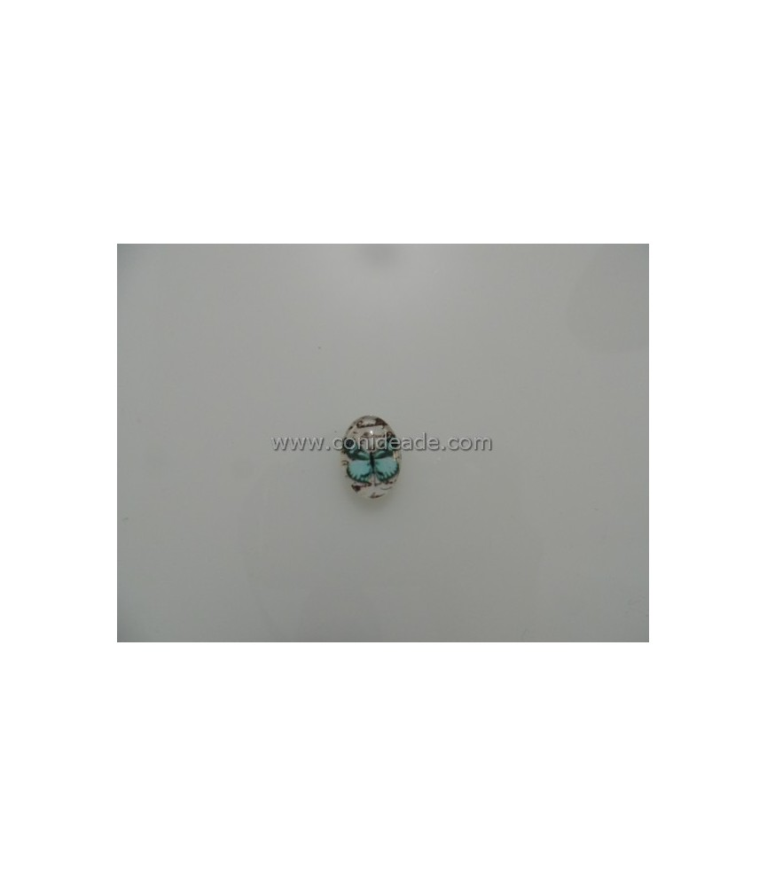 Cabuchon cristal mariposa azul 18x13mm
