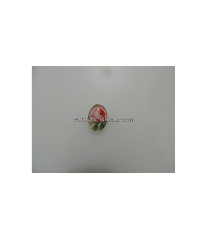 Cabuchon cristal rosa 18x13mm