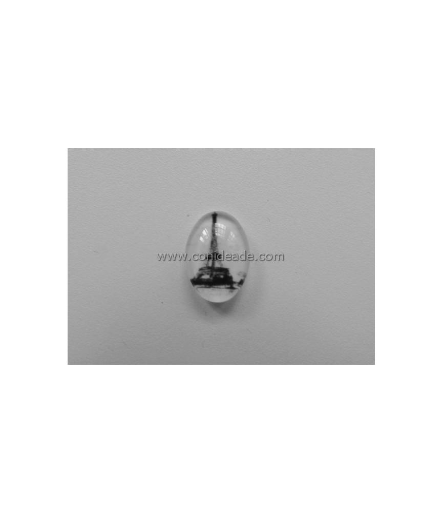 Cabuchon cristal torre eiffel B/N18x13mm
