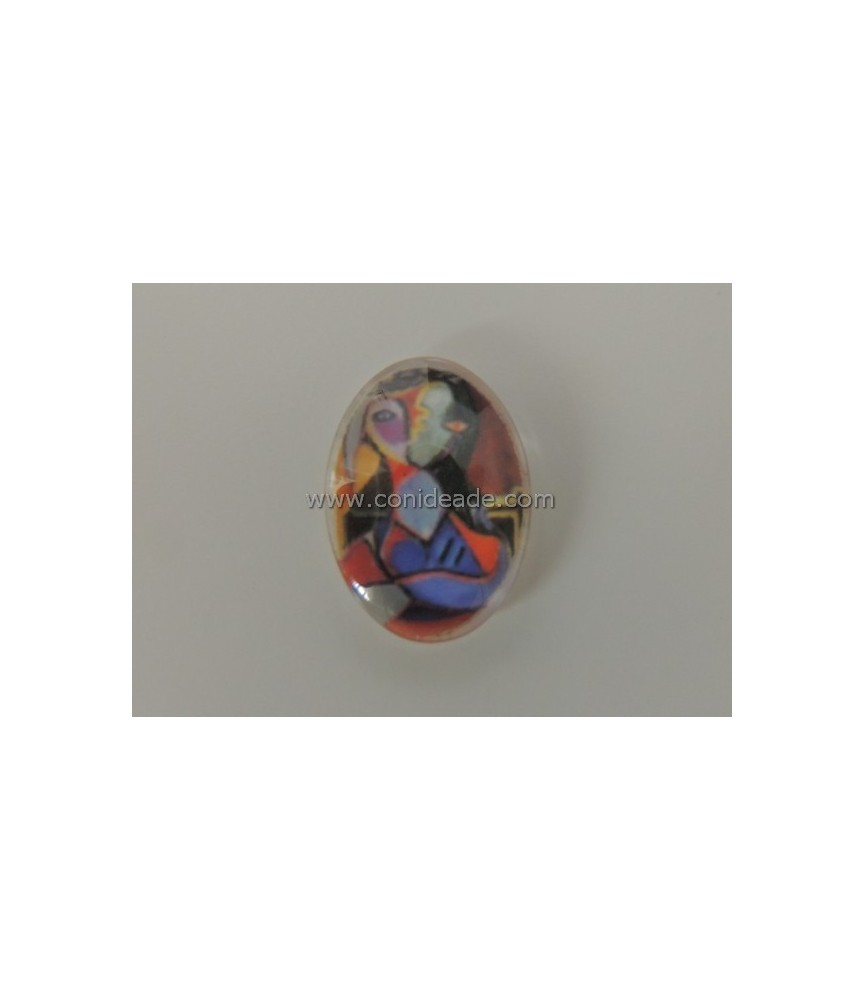 Cabuchon cristal abstracto 18x13mm