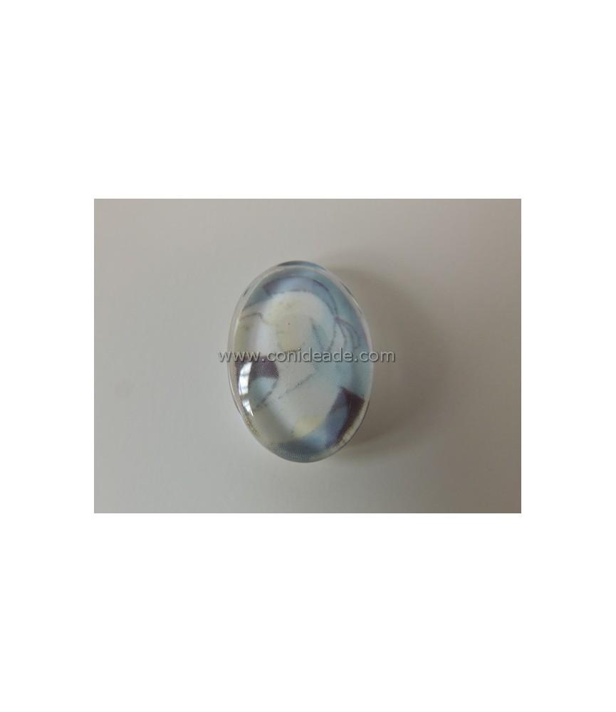Cabuchon cristal cara abstracta 13x18mm