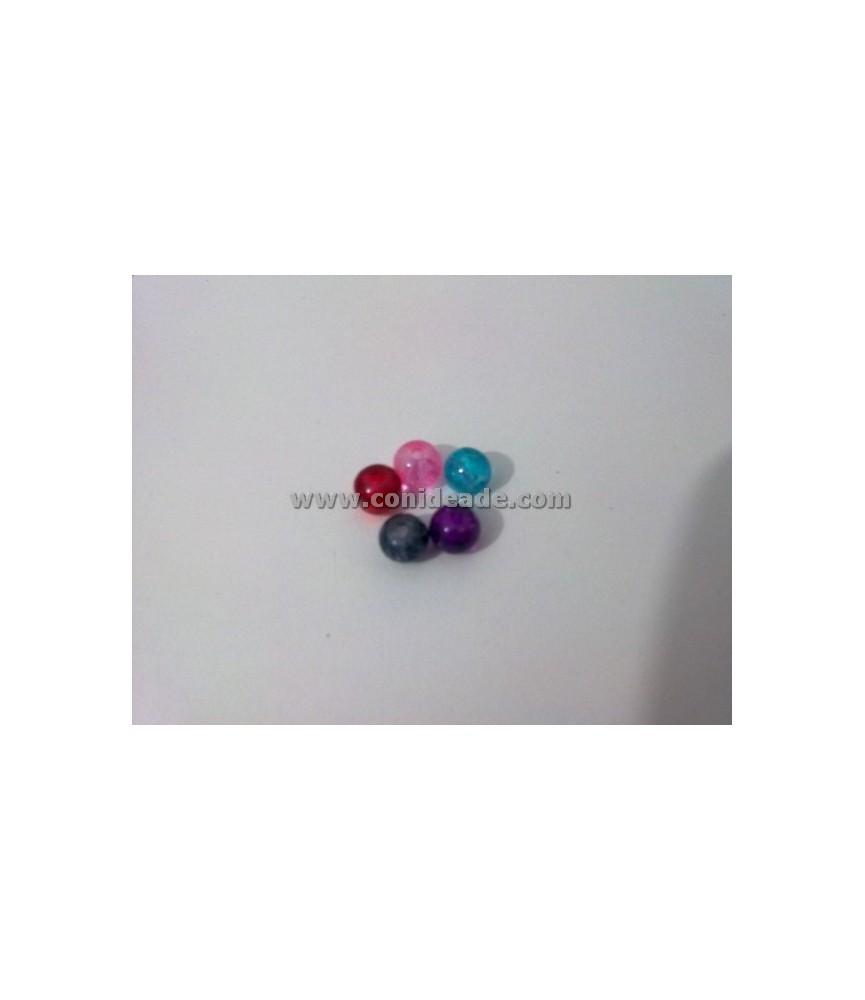 Pack de 25 cuentas de cristal de colores 6mm