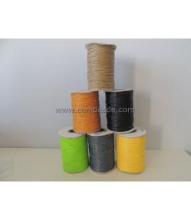 Cordón de algodón encerado 1 mm colores