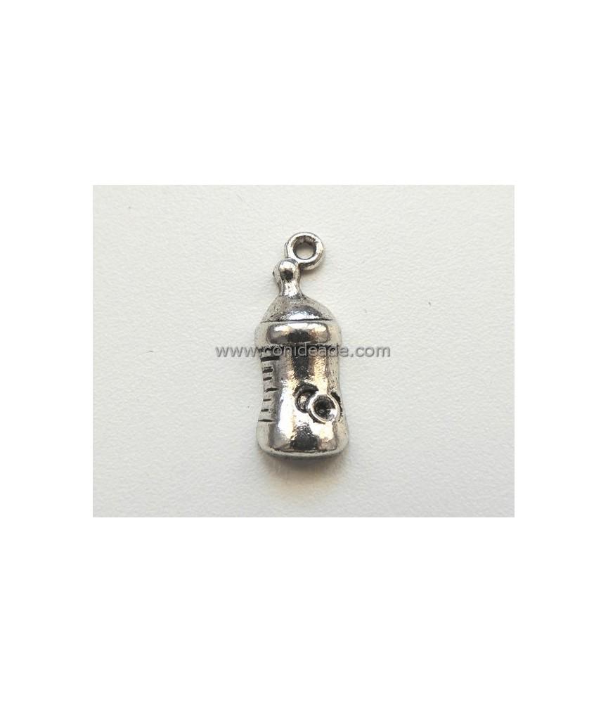 Charm biberon plata vieja 24x9 mm
