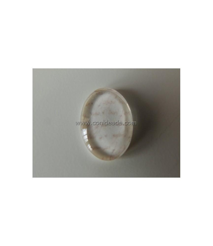 Cabuchon cristal carta 18x13mm