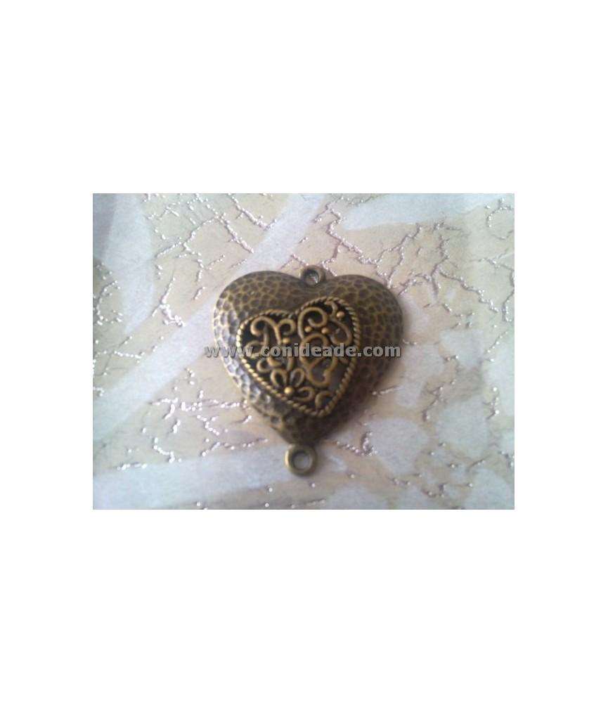 Colgante corazon bronce