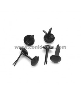 Pack 10 Encuadernadores redondos negros
