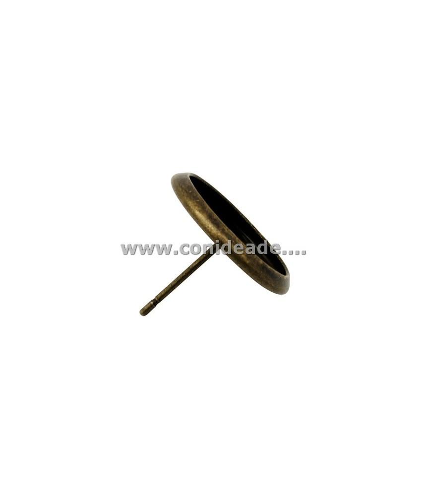 5 Par de pendientes bronce con base para 12mm