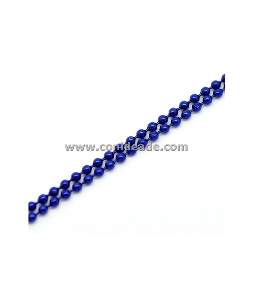 Cadena de bolitas azul