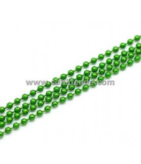 Cadena de bolitas verde