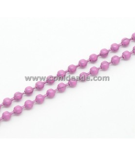 Cadena de bolitas rosa