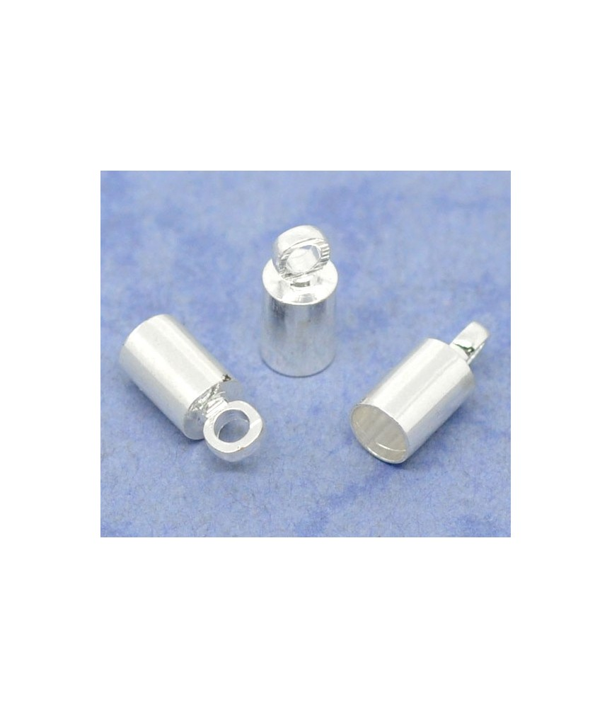 Pack de 10 terminales para cordón 3mm plateados