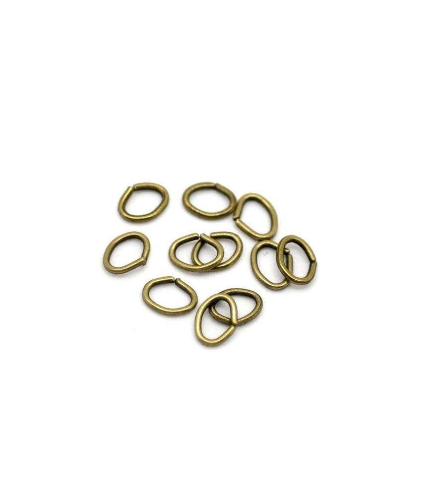 Pack de 25 Arandelas ovaladas bronce