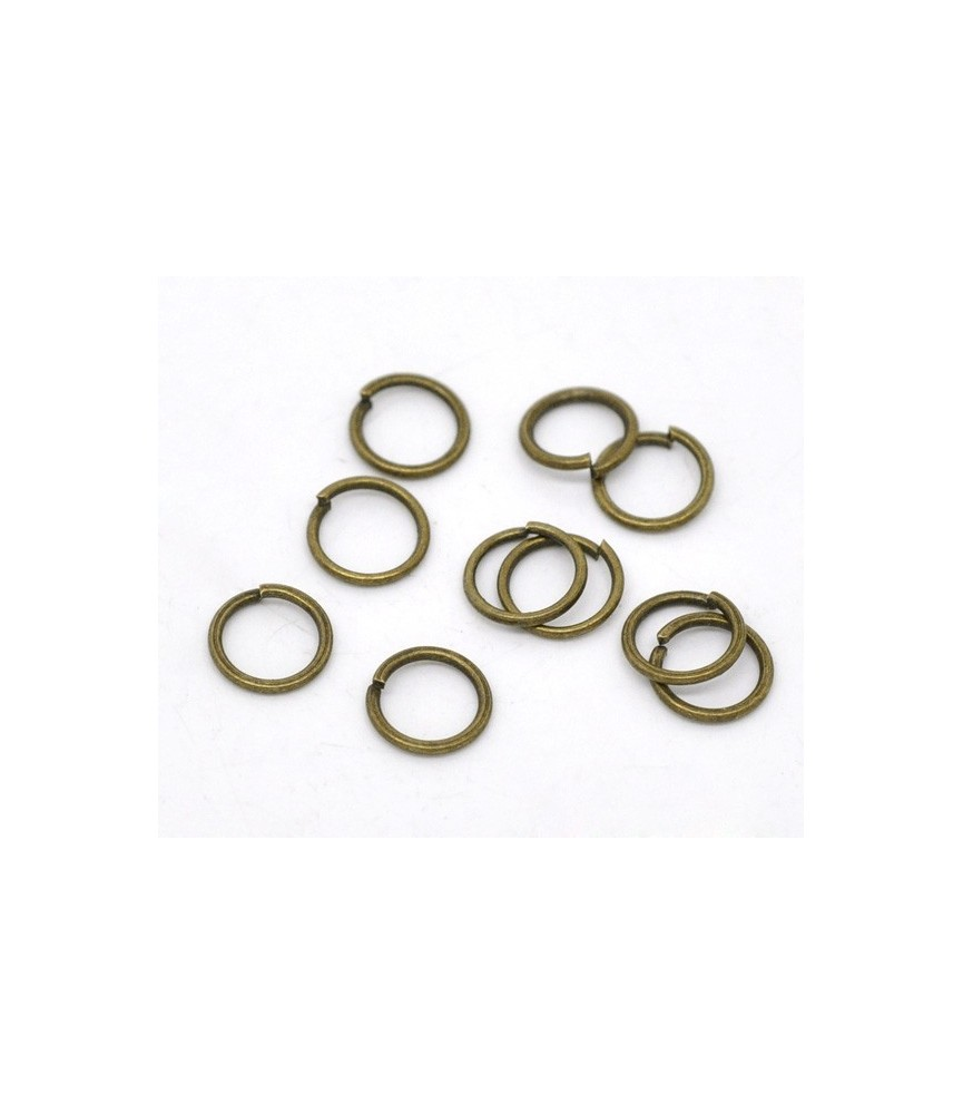 Pack de 25 Arandelas en bronce antiguo de 5mm