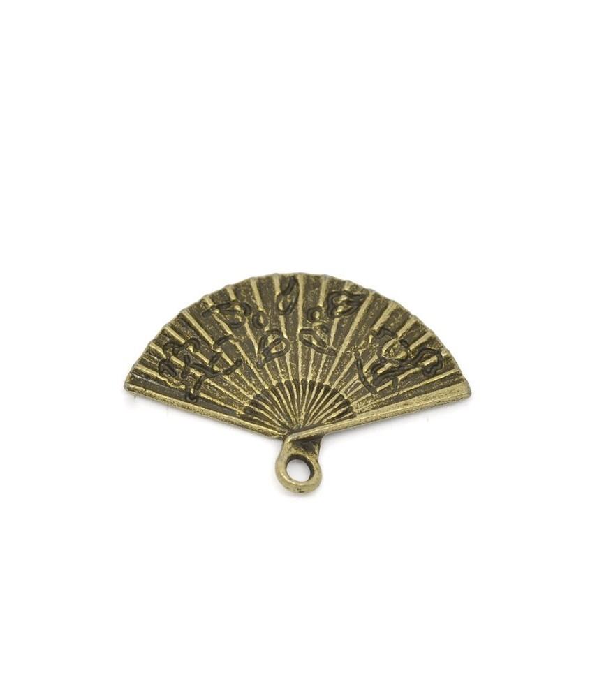 Charm abanico bronce 24x17mm