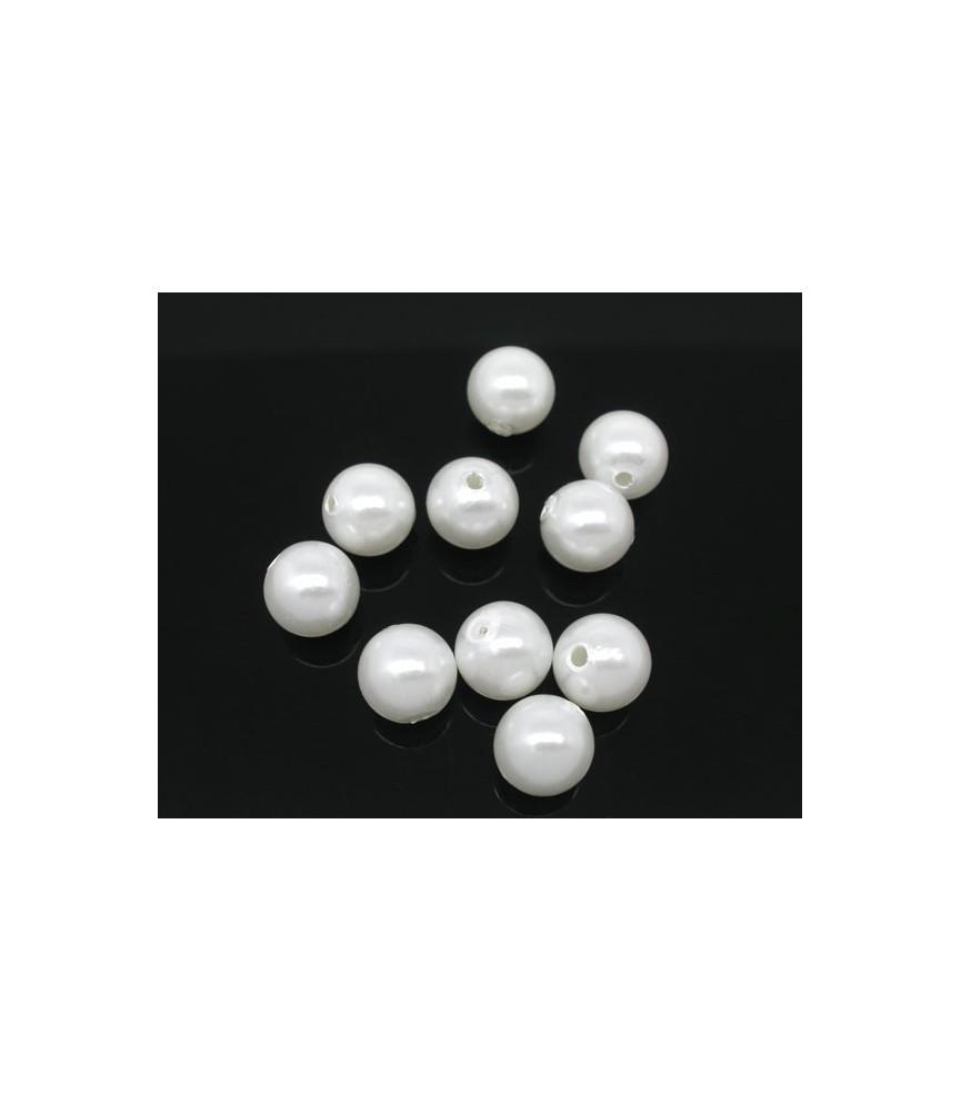 Pack de 25 cuentas en forma de perla 10mm