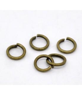 Pack de 25 Arandelas en bronce antiguo de 6mm