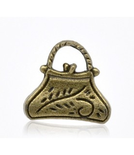 Charm Bolsito bronce