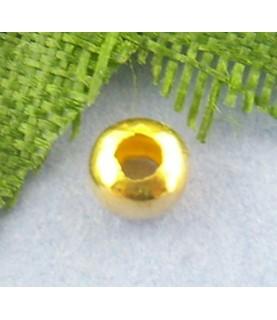 Pack de 25 chafas doradas 3mm