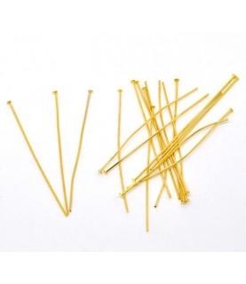 Pack 25 bastones dorados cabeza plana
