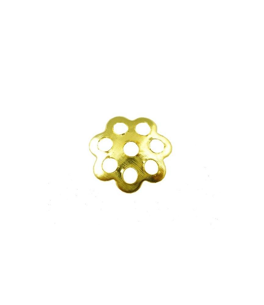 Pack 25 casquillas flor dorada 6mm