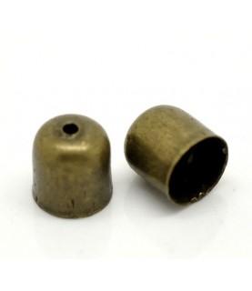 Pack de 10 terminal bronce para cordones 6mm