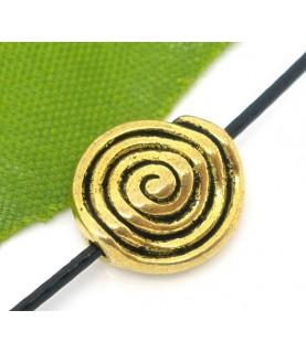 Cuenta dorada espiral