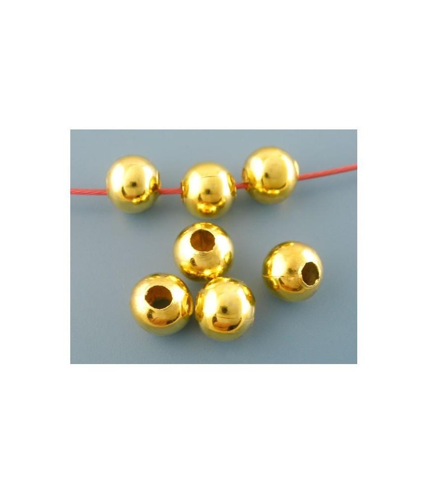 Pack 10 Cuentas metal dorada 10mm