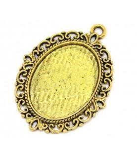 Base camafeo ovalado dorado