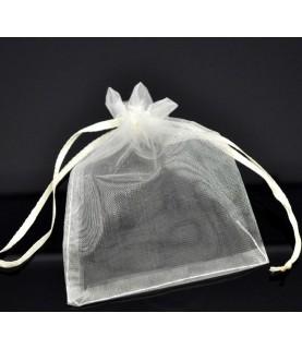 Bolsas de organza beige 12x9cm