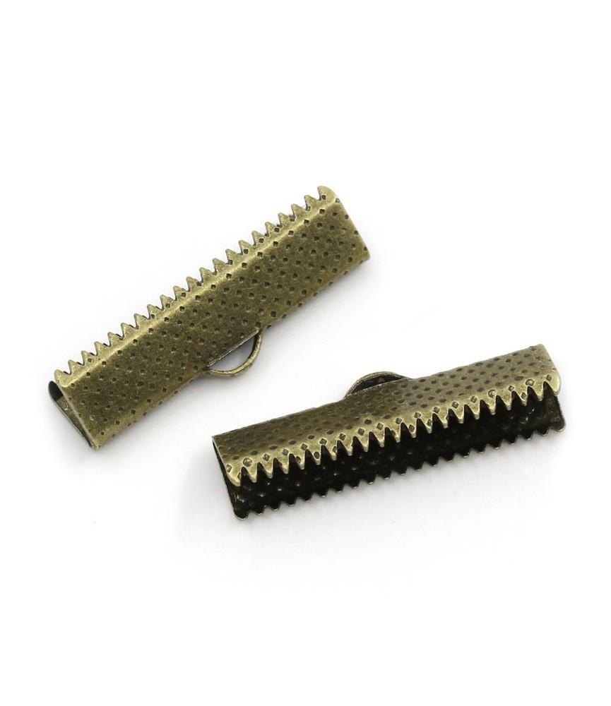Terminal dentado 35mm bronce