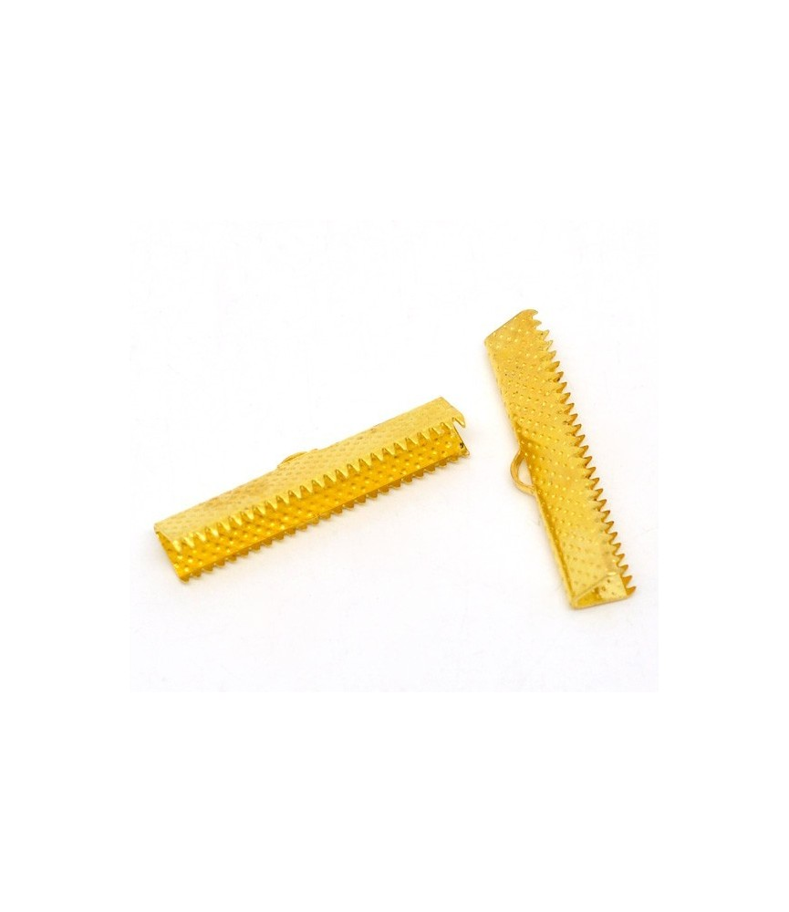 Terminal dentado 30mm x 7,5mm dorado
