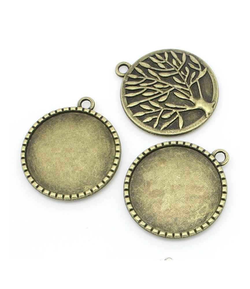 Base camafeo medallón olivo 25mm