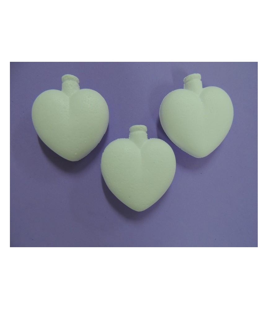 3 Colgantes corazones de porexpan