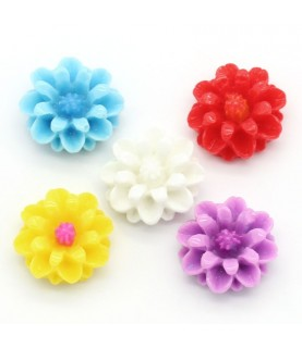 Pack de 5 mini flores 14mm