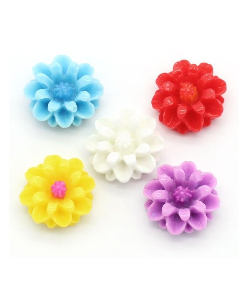Pack de 5 mini flores 14mm