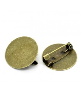 Broche bronce con base de 20mm