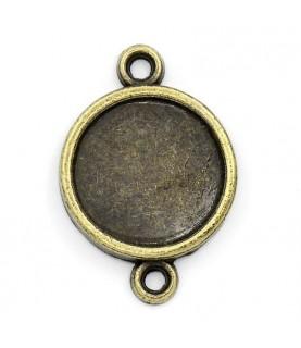 Conector base de camafeo 14mm bronce