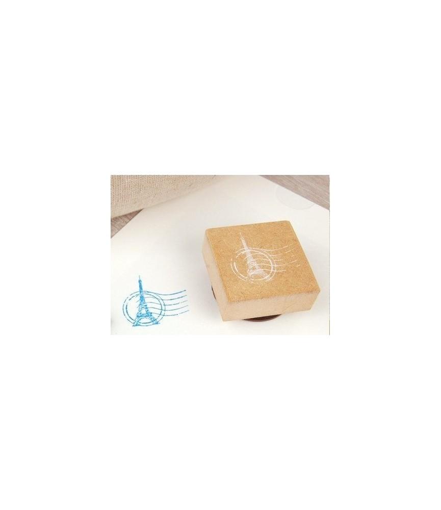 Sello de madera sello paris + tinta