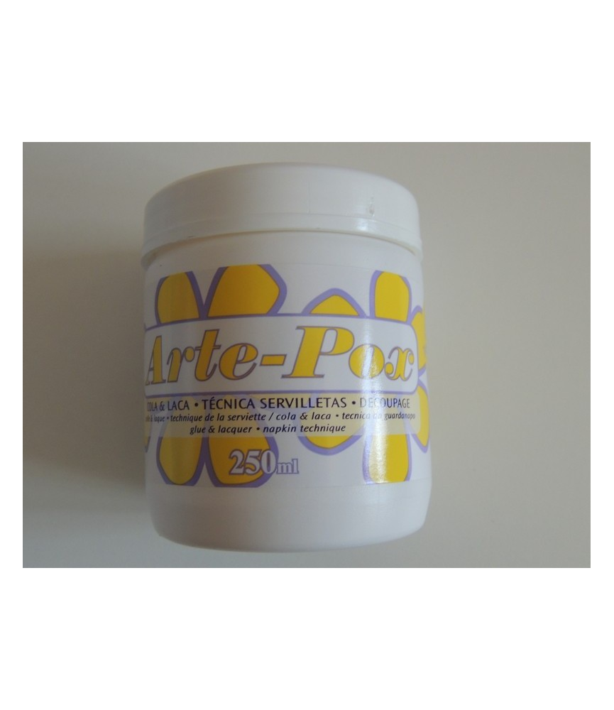 Cola-laca Arte-Pox para superficies porosas
