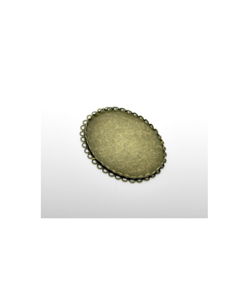 Base de camafeo ovalado 40x30cm bronce