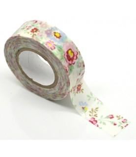 1 rollo washi tape estampado floral