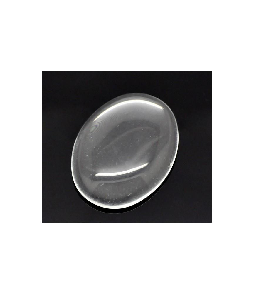 Cabuchon cristal ovalado 40x30mm