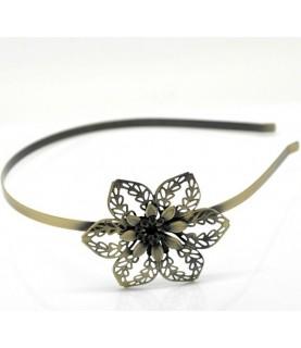 Diadema vintage bronce flower