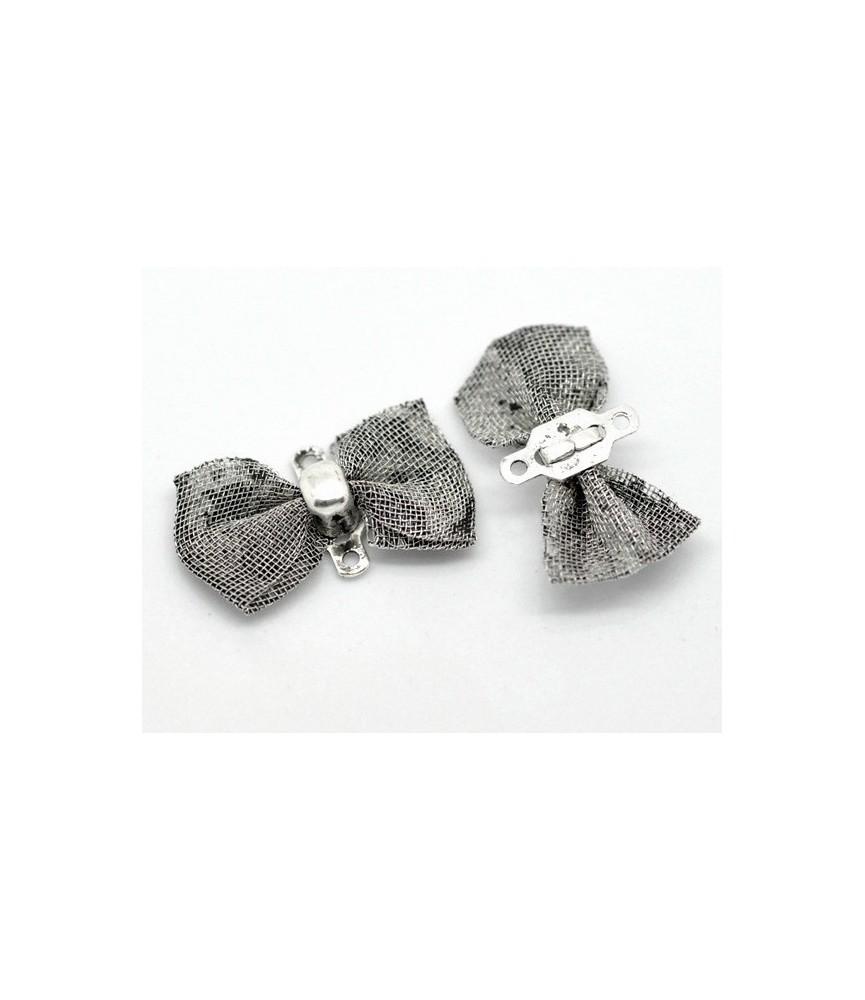 Conector lacito en plata 18x9mm