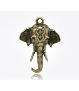 Charm elefante bronce