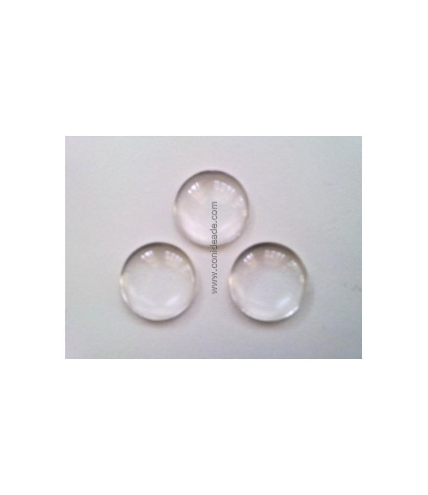 Cabuchon cristal redondo 14 mm