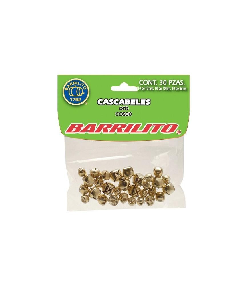 Pack de 30 cascabeles dorados